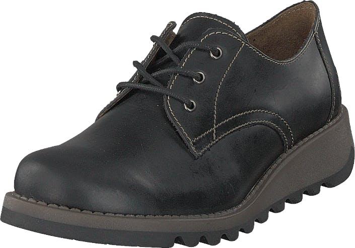 Fly London Simb K Pull Up - Black, Kengät, Matalapohjaiset kengät, Kävelykengät, Musta, Lapset, 38