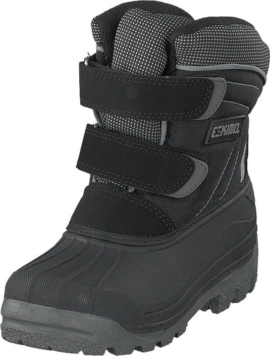 Eskimo Star Black/grey, Kengät, Bootsit, Lämminvuoriset kengät, Harmaa, Lapset, 37