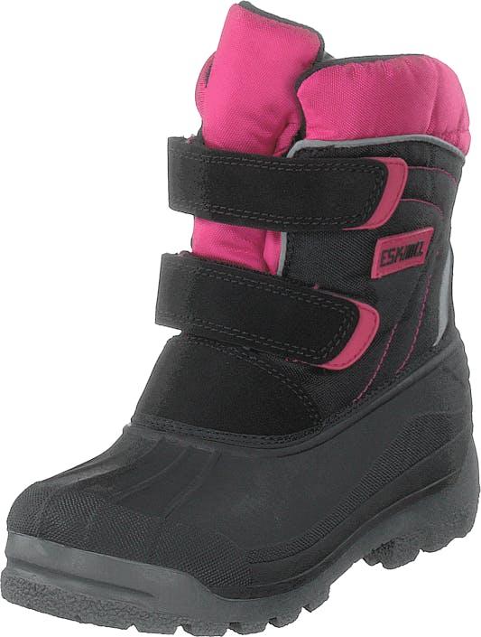 Eskimo Star Black/fuxia, Kengät, Bootsit, Lämminvuoriset kengät, Musta, Lapset, 27