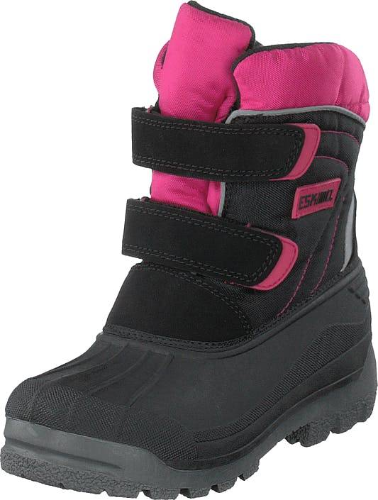 Eskimo Star Black/fuxia, Kengät, Bootsit, Lämminvuoriset kengät, Musta, Lapset, 33