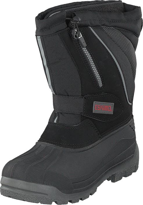 Eskimo Scooter Man Black, Kengät, Bootsit, Lämminvuoriset kengät, Harmaa, Unisex, 43