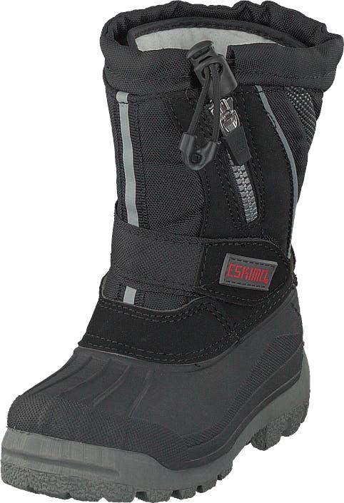 Eskimo Scooter Child Black, Kengät, Bootsit, Lämminvuoriset kengät, Harmaa, Lapset, 35