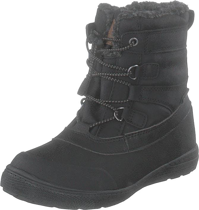 Gulliver 430-9691 Waterproof Warm Lined Black, Kengät, Bootsit, Lämminvuoriset kengät, Musta, Lapset, 34