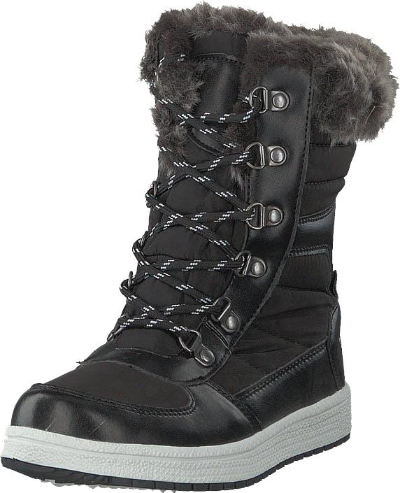 Gulliver 435-0905 Waterproof Warm Lined Black, Kengät, Bootsit, Lämminvuoriset kengät, Musta, Lapset, 30