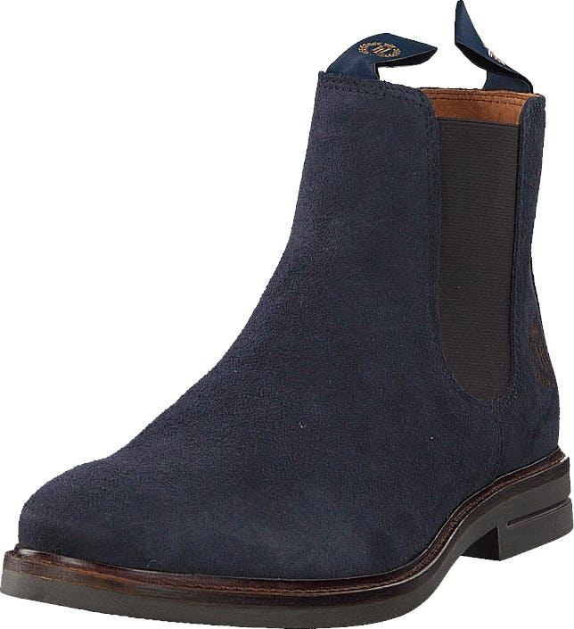 Henri Lloyd Graham Boot Suede Navy Nav, Kengät, Bootsit, Chelsea boots, Violetti, Miehet, 45