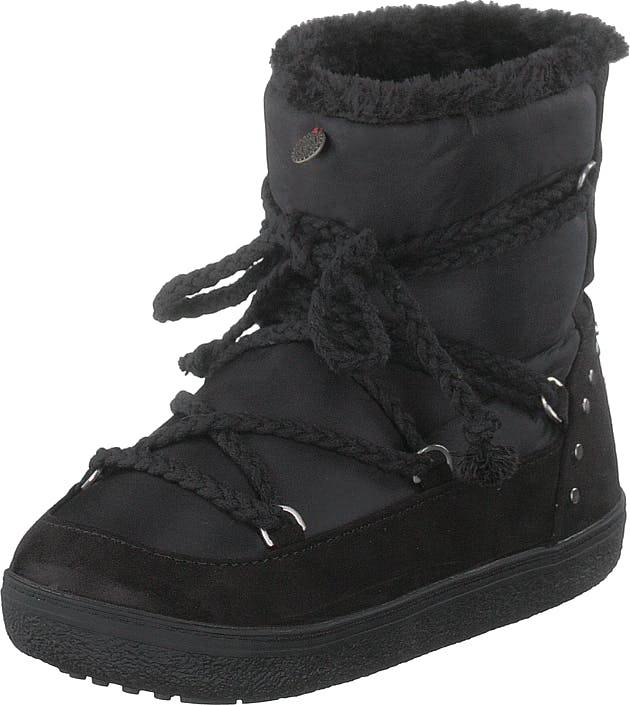 Image of Odd Molly Soft Artic Low Boot Almost Black, Kengät, Bootsit, Lämminvuoriset kengät, Musta, Naiset, 36