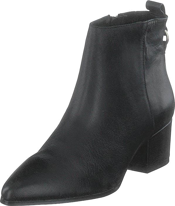 Steve Madden Clover Black Leather, Kengät, Saappaat ja Saapikkaat, Nilkkurit, Musta, Naiset, 37