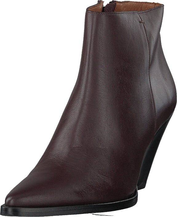 Twist & Tango Dallas Boots Dark Wine, Kengät, Saappaat ja Saapikkaat, Nilkkurit, Ruskea, Naiset, 36