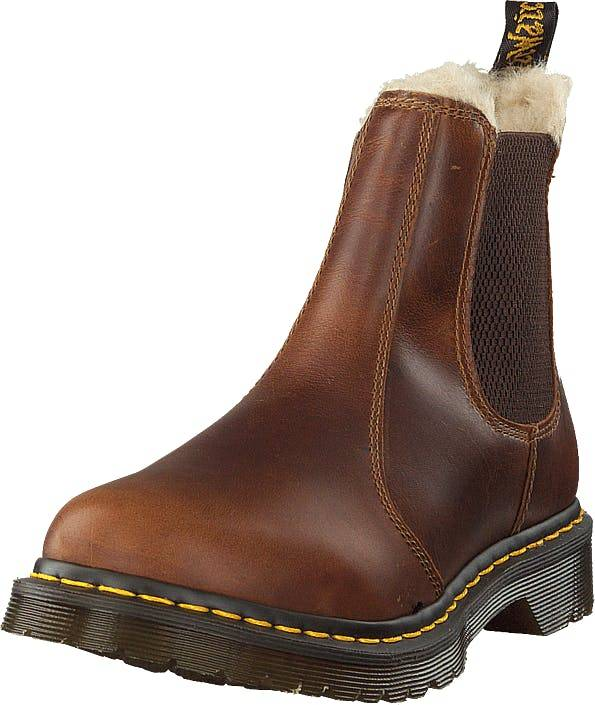 Image of Dr Martens Leonore Butterscotch, Kengät, Bootsit, Chelsea boots, Ruskea, Naiset, 37