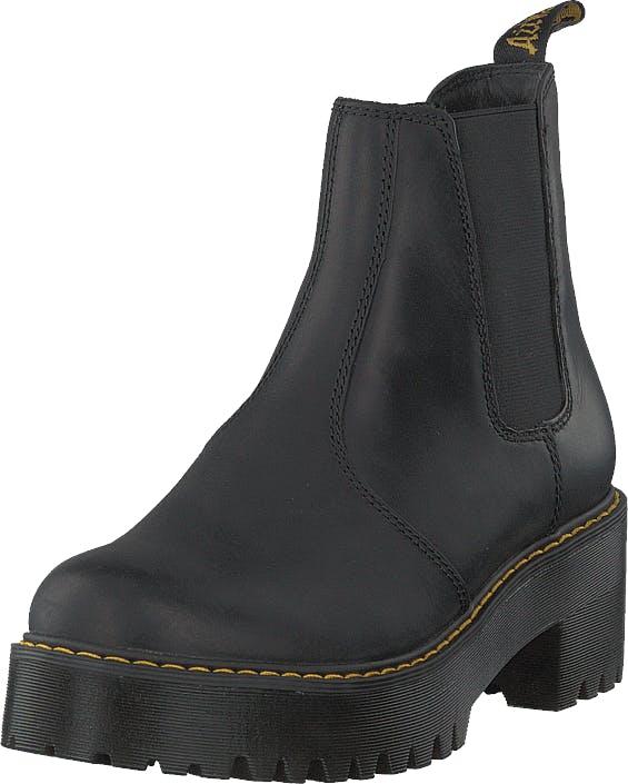 Image of Dr Martens Rometty Black, Kengät, Bootsit, Korkeavartiset bootsit, Musta, Naiset, 36