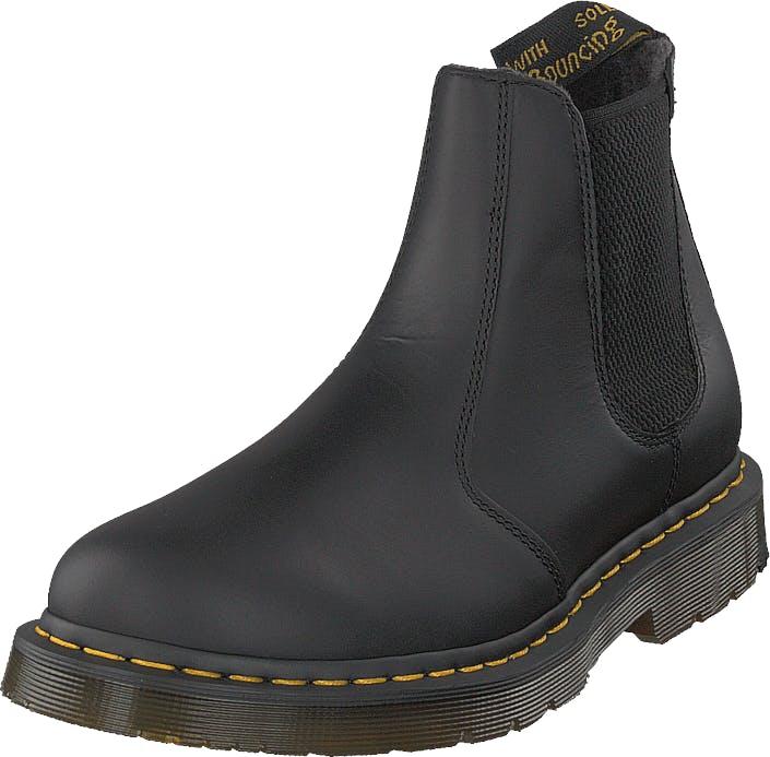 Image of Dr Martens 2976 Black, Kengät, Bootsit, Chelsea boots, Musta, Miehet, 46