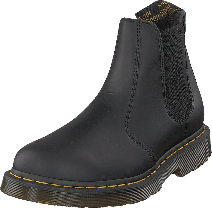 Image of Dr Martens 2976 Black, Kengät, Bootsit, Chelsea boots, Musta, Miehet, 42
