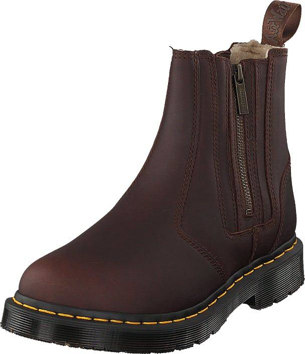 Image of Dr Martens 2976 Alyson W/zips Dk Brown, Kengät, Bootsit, Chelsea boots, Ruskea, Naiset, 41