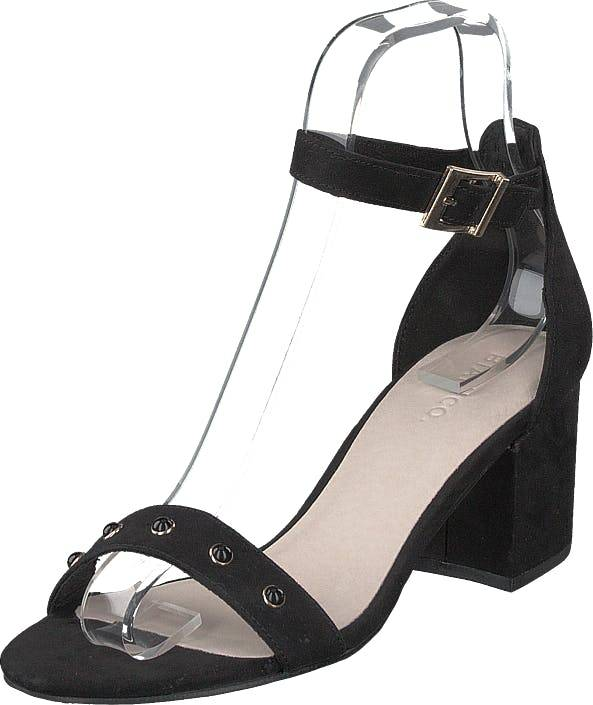 Bianco Belle Pearl Sandal 101 - Black 1, Kengät, Korkokengät, Matalakorkoiset Sandaletit, Musta, Naiset, 36