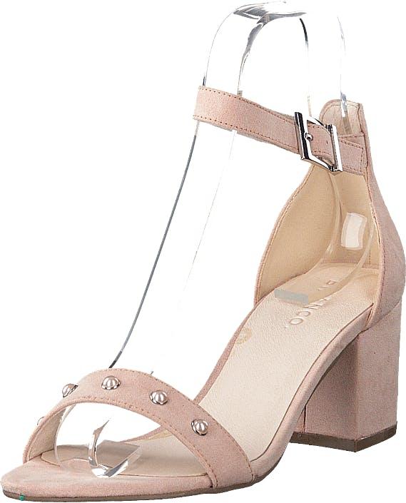 Bianco Belle Pearl Sandal 491 - Powder 1, Kengät, Korkokengät, Matalakorkoiset Sandaletit, Vaaleanpunainen, Naiset, 38