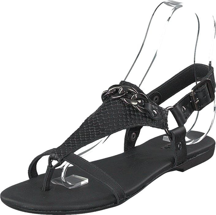 Bianco Becca Verona Leather Sandal 100 - Black, Kengät, Sandaalit ja Tohvelit, Remmisandaalit, Musta, Naiset, 38