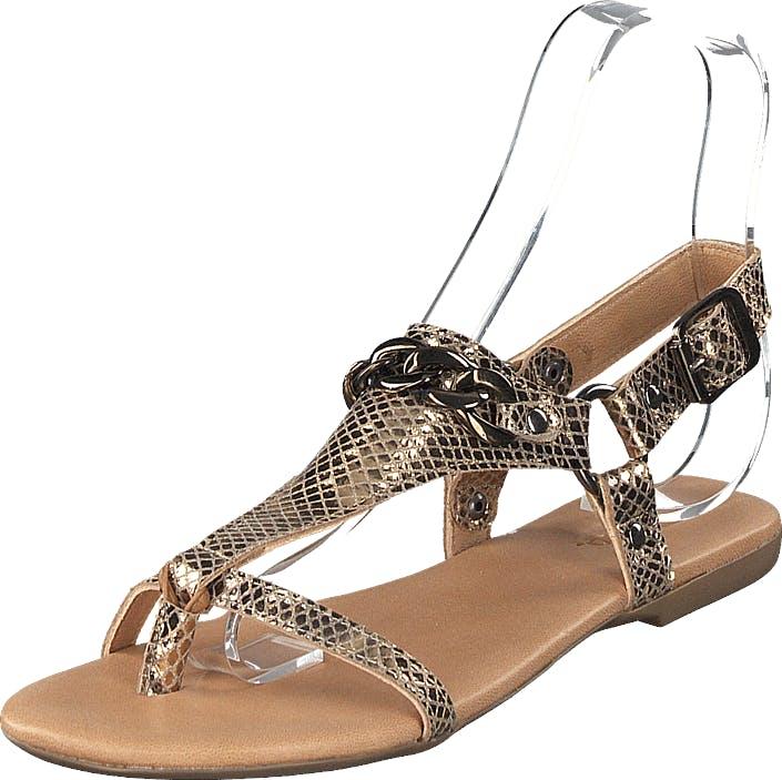 Bianco Becca Verona Leather Sandal 930 - Gold, Kengät, Sandaalit ja Tohvelit, Remmisandaalit, Beige, Ruskea, Kulta, Naiset, 37