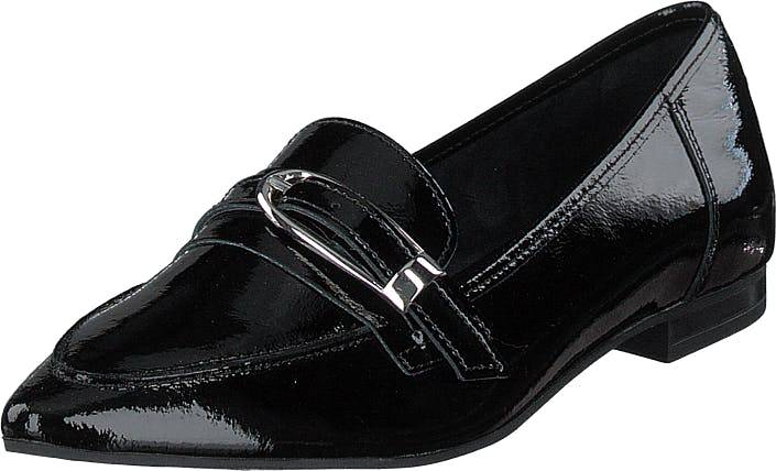 Bianco Alia Leather Buckle Loafer 103 - Black 3, Kengät, Matalat kengät, Loaferit, Musta, Naiset, 38