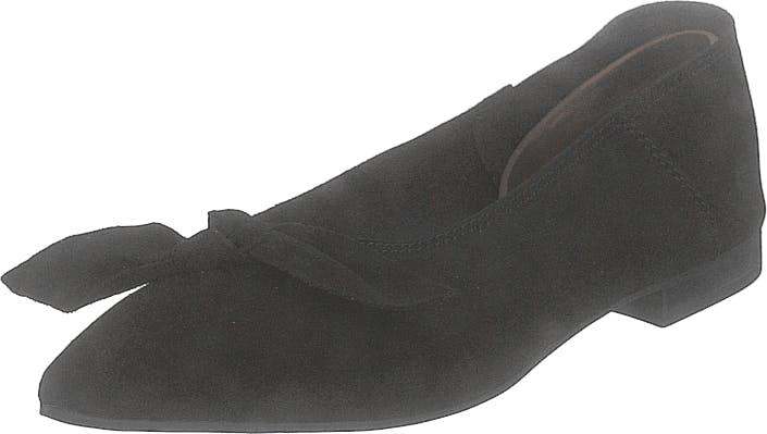 Bianco Berna Suede Bow Shoe 101 - Black 1, Kengät, Matalat kengät, Ballerinat, Musta, Naiset, 37