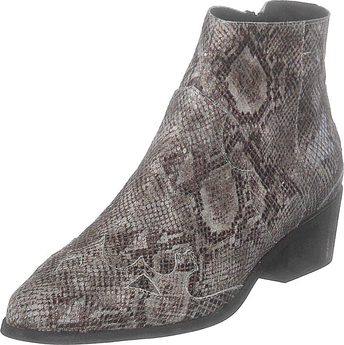 Bianco Bismil Western Leather Boot 610 - Snake, Kengät, Bootsit, Chelsea boots, Ruskea, Naiset, 37