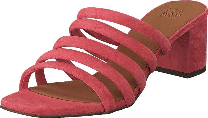 Billi Bi Sandals Dark Pink Suede, Kengät, Korkokengät, Matalakorkoiset avokkaat, Punainen, Vaaleanpunainen, Naiset, 40