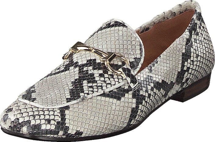 Billi Bi Shoes Off White 940 Snake, Kengät, Matalapohjaiset kengät, Slip on, Ruskea, Harmaa, Naiset, 37