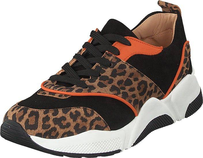 Billi Bi Shoes Leo Suede/black/orange, Kengät, Tennarit ja Urheilukengät, Sneakerit, Ruskea, Musta, Naiset, 36