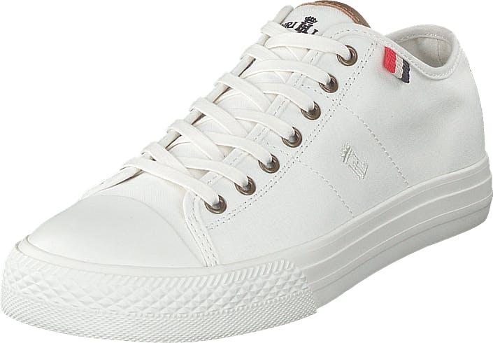 Henri Lloyd Bromley Wmns Sneaker Offwhite, Kengät, Sneakerit ja urheilukengät, Varrettomat tennarit, Valkoinen, Naiset, 38