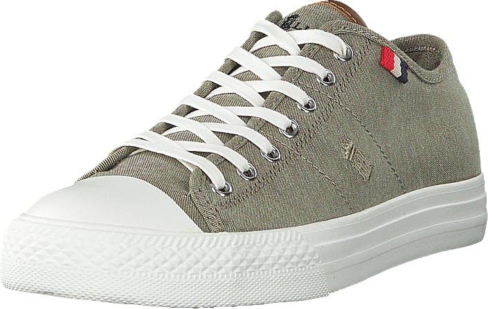 Henri Lloyd Bromley Wmns Sneaker Khaki, Kengät, Sneakerit ja urheilukengät, Varrettomat tennarit, Ruskea, Vihreä, Naiset, 37
