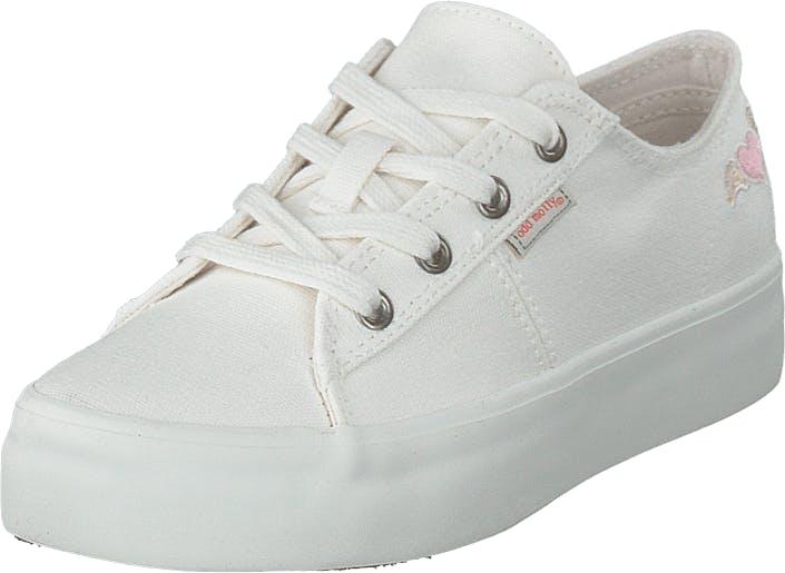 Odd Molly Pedestrian Sneaker Bright White, Kengät, Tennarit ja Urheilukengät, Varrettomat tennarit, Valkoinen, Naiset, 40