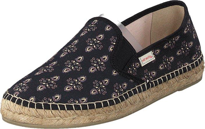 Image of Odd Molly Vibrant Walker Espadrillo Almost Black, Kengät, Matalapohjaiset kengät, Slip on, Musta, Naiset, 38