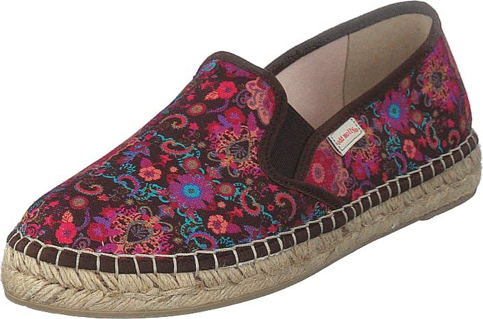 Odd Molly Vibrant Walker Espadrillo Dark Brown, Kengät, Matalat kengät, Slip on, Beige, Ruskea, Naiset, 39