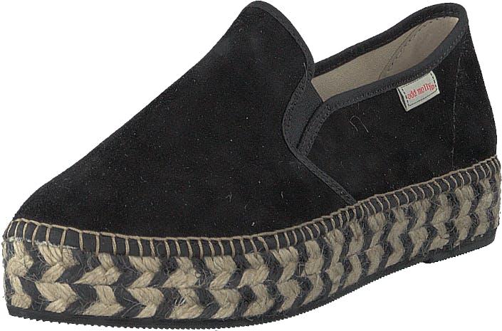 Odd Molly Stepper Espadrillo Black, Kengät, Matalat kengät, Slip on, Musta, Naiset, 39