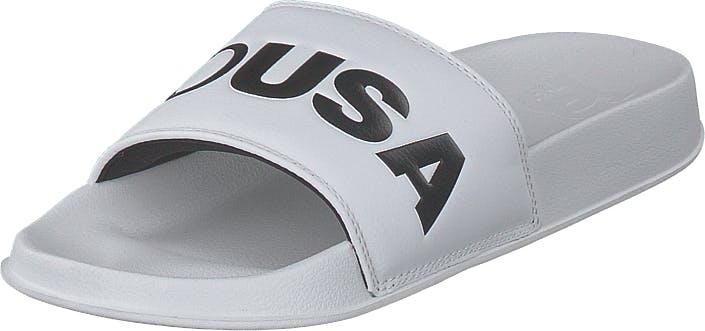 DCShoe Shoes Dc Slide White/black, Kengät, Sandaalit ja Tohvelit, Sandaalit, Valkoinen, Naiset, 40