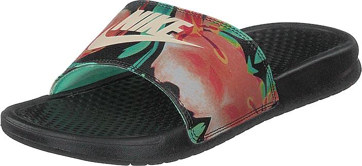 Nike Benassi Just Do It Black/crimson Tint-green Glow, Kengät, Sandaalit ja Tohvelit, Sandaalit, Musta, Naiset, 36