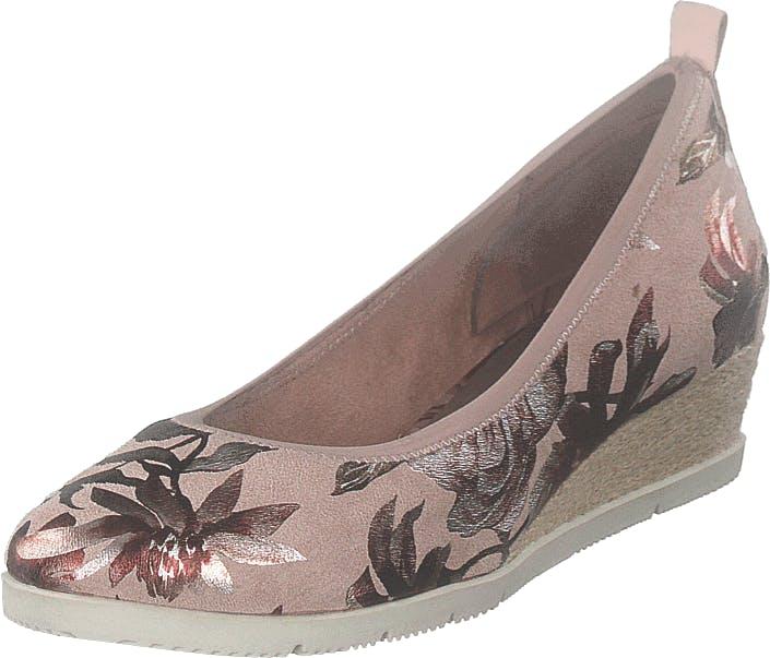 Image of Tamaris 1-1-22381-22 678 Powder Flower, Kengät, Matalat kengät, Ballerinat, Beige, Ruskea, Naiset, 40
