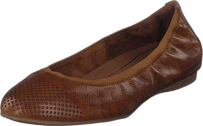 Image of Tamaris 1-1-22134-22 305 Cognac, Kengät, Matalapohjaiset kengät, Ballerinat, Ruskea, Naiset, 41