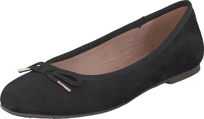 Image of Tamaris 1-1-22142-22 001 Black, Kengät, Matalapohjaiset kengät, Ballerinat, Musta, Naiset, 38