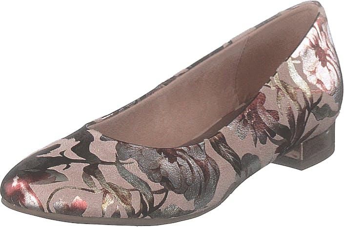 Image of Tamaris 1-1-22104-22 678 Powder Flower, Kengät, Matalat kengät, Ballerinat, Beige, Ruskea, Naiset, 39