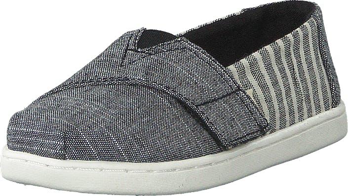 Toms Black Cabana Stripe Grey, Kengät, Matalapohjaiset kengät, Slip on, Harmaa, Lapset, 24
