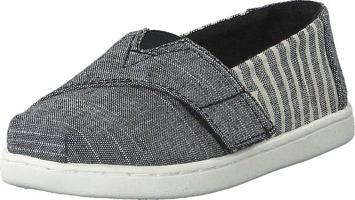 Toms Black Cabana Stripe Grey, Kengät, Matalat kengät, Slip on, Harmaa, Lapset, 24