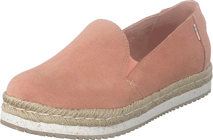 Toms Coral Pink Suede Coral, Kengät, Matalat kengät, Slip on, Beige, Vaaleanpunainen, Punainen, Naiset, 37