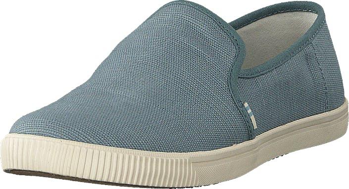 Toms Pebble Grey Heritage Canvas Grey, Kengät, Matalat kengät, Slip on, Turkoosi, Naiset, 36