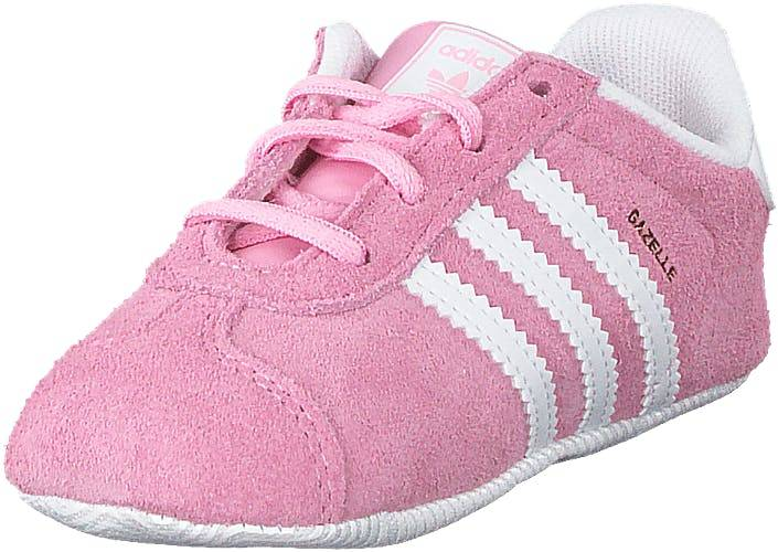 Image of Adidas Originals Gazelle Crib Trupnk/ftwwht/goldmt, Kengät, Sneakerit ja urheilukengät, Sneakerit, Valkoinen, Lapset, 18