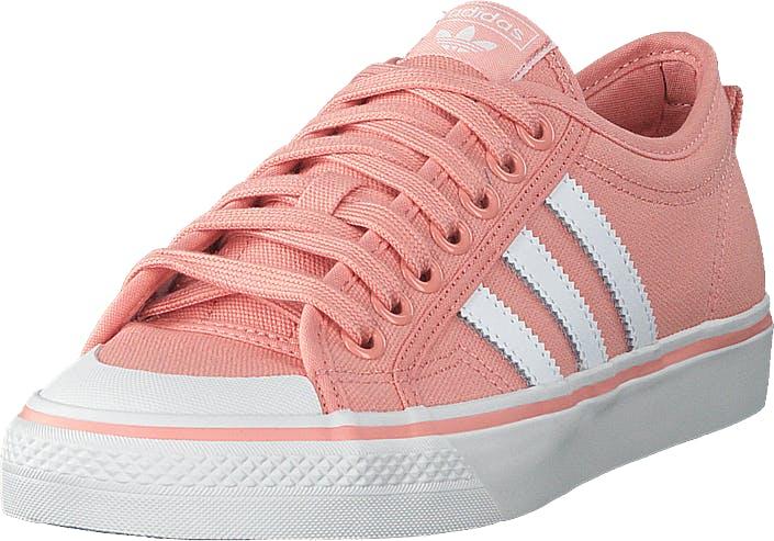 Image of Adidas Originals Nizza W Trapnk/ftwwht/crywht, Kengät, Sneakerit ja urheilukengät, Varrettomat tennarit, Vaaleanpunainen, Naiset, 39