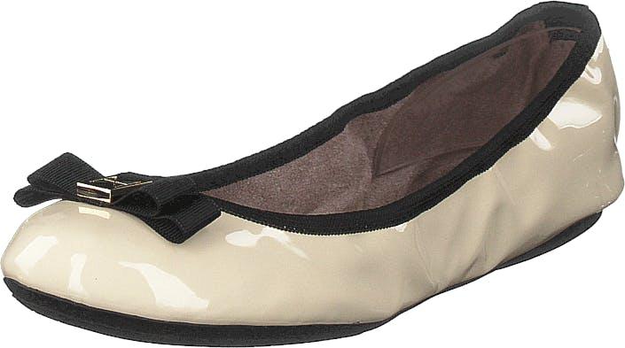 Butterfly Twists Shea Cream/black Patent, Kengät, Matalat kengät, Ballerinat, Beige, Naiset, 39