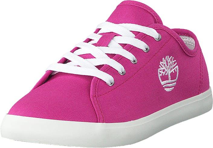 Timberland Newport Bay Canvas Ox Bright Pink Canvas, Kengät, Sneakerit ja urheilukengät, Varrettomat tennarit, Vaaleanpunainen, Lapset, 35