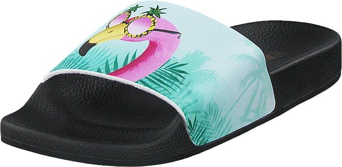 The White Brand Flamingo Black, Kengät, Sandaalit ja tohvelit, Sandaalit, Harmaa, Musta, Naiset, 38