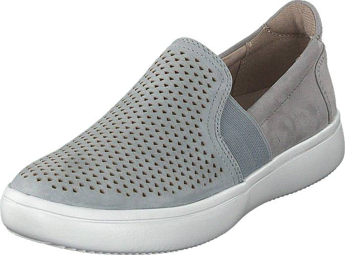 Rockport Cl Ariell Goreslipon Grey/blue Kid Suede, Kengät, Matalat kengät, Slip on, Harmaa, Naiset, 40