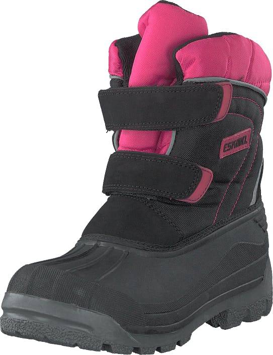 Eskimo Star Black/fuxia, Kengät, Bootsit, Lämminvuoriset kengät, Harmaa, Unisex, 37